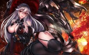 Picture girl, anime, art, granblue fantasy, magisa