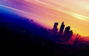 Picture city, game, Grand Theft Auto V, GTA V, GTA 5, motorbike