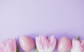 Picture background, pink, spring, Easter, Eggs, tulips