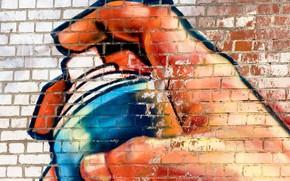 Wallpaper paint, texture, wallpaper., spray, graffiti, beautiful background, beautiful background, the hand draws, brick, street art, ...