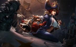 Wallpaper League of Legends, champion, Waterloo Miss Fortune - League of Legends, Jennifer Wuestling, art, fantasy, ...