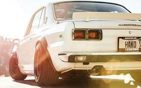 Picture Auto, Machine, Nissan, Nissan, Lights, Car, 2000, Skyline, Nissan Skyline, 1972, 2000GT, Japanese, Back, 2000GT-R, …