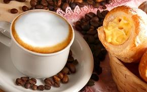 Wallpaper cake, coffee, foam, grain