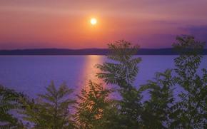 Picture landscape, dawn, morning