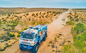 Picture The sky, Sand, Nature, Dust, Sport, Speed, Truck, Race, Master, Beauty, Russia, Beast, 307, Kamaz, …