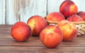 Wallpaper kartinka, peach, fruit