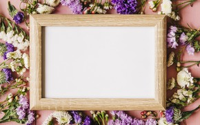Picture flowers, background, spring, frame, Board, pink, flowers, background, spring, frame