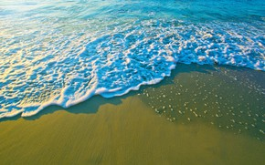 Picture wave, beach, beach, sea, sand, sea, sand, wave, summer, summer