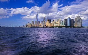 Picture the city, the ocean, New York, New York City, New York (USA)