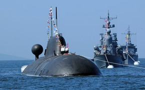 Picture parade, Navy, nuclear submarine, Kuzbass
