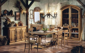 Picture style, room, Villa, interior, dining room