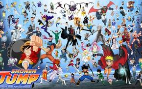 Picture game, Bleach, Naruto, One Piece, anime, crossover, asian, manga, Fullmetal Alchemist, Gintama, Naruto Shippuden, oriental, …