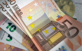 Wallpaper money, EURO, bills, currency