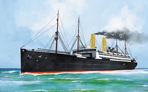 Picture wave, ship, washington, Transatlantic Ships