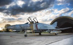 Wallpaper the airfield, fighter, Phantom II