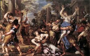 Picture antique, Pietro Da Cortona, Sibine Women, The Rape Of The