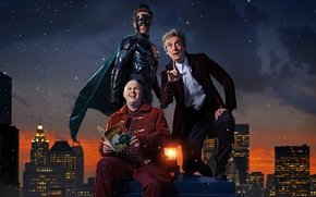 Picture the sky, snow, the city, home, skyscrapers, Doctor Who, superhero, Doctor Who, Peter Capaldi, The ...