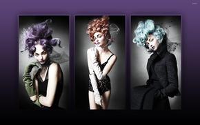 Picture collage, model, Sasha Pivovarova, Sasha Pivovarova