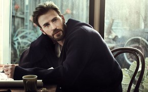 Picture look, window, male, Chris Evans, For Esquire