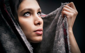 Picture look, face, hand, portrait, shawl, Siham Abdel Ghaffar