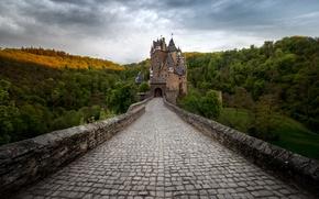 Picture summer, bridge, castle