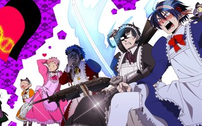 Picture anime, art, the trick, Ao no Exorcist, Blue exorcist