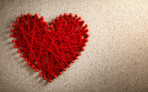 Picture thread, red, heart, love, heart, love, romantic
