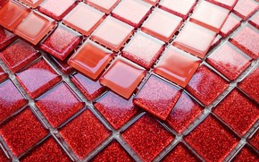 Picture color, texture, sparkle glass, mosaic tile, mosaic ceramic, shades of red, glass squares