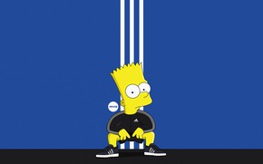 Wallpaper The simpsons, Figure, Adidas, Simpsons, Bart, Art, Adidas, Cartoon, The Simpsons, Character, Bart, The animated ...