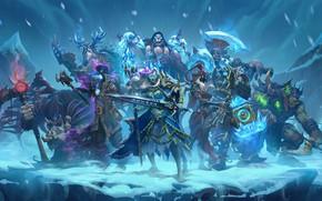 Picture axe, sword, ice, Warcraft, warhammer, armor, ken, blade, warrior, ork, Hearthstone: Heroes of Warcraft, wepon, …