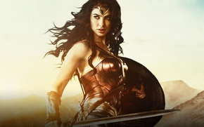 Picture cinema, Wonder Woman, armor, movie, brunette, film, warrior, DC Comics, Diana, strong, Gal Gadot, gauntlet, …