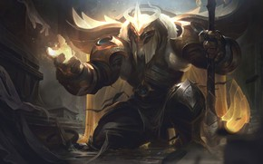 Picture fantasy, art, League of Legends, location, Riot Games, Alex Flores, Arclight Yorick