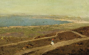 Picture landscape, picture, Vasily Polenov, Just Walk the Coast