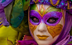 Picture holiday, mask, carnival, character