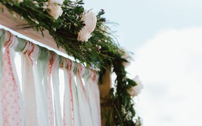 Picture flowers, roses, arch, wedding
