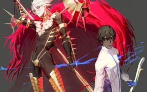 Picture weapons, anime, art, guys, two, characters, Fate Grand Order