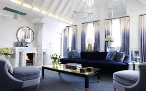 Picture design, room, interior, fireplace, living room