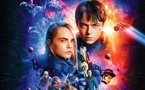 Wallpaper cinema, Rihanna, robot, mecha, alien, movie, film, Bubble, Clive Owen, Cara Delevingne, Dane DeHaan, Laureline, ...