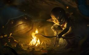 Picture fantasy, art, illustrator, hunter, George Redreev