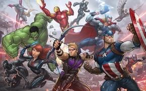Wallpaper Avengers Age Of Ultron, superheroes, Hawkeye, fiction, The Avengers: Age of Ultron, Captain America, art, ...