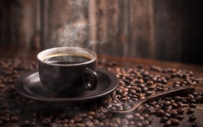 Picture table, coffee, couples, spoon, Cup, drink, saucer, grain, bokeh
