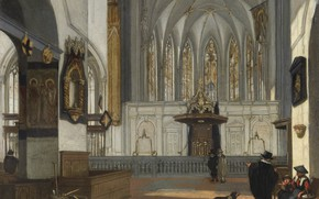 Picture Church in Utrecht from the Nave, Interior of the Choir of St John's, 1654, Emanuel …