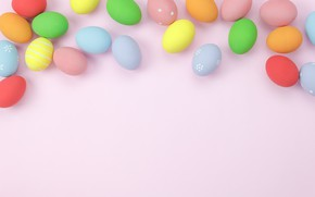 Picture background, pink, eggs, spring, colorful, Easter, pink, spring, Easter, eggs, decoration, Happy, tender