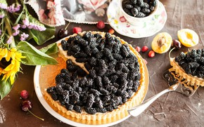 Picture berries, pie, fruit, cakes, filling