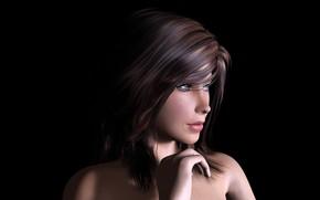 Picture girl, model, portrait