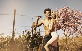 Picture girl, the sun, model, body, tan, dress, hugs, guy, beautiful, photoshoot, chic, Hailey Baldwin, Hailey ...