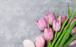 Wallpaper pink, decoration, pastel, Easter, pink, Easter, tulips, tulips, tender, Happy, spring, eggs