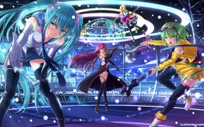 Picture music, scene, concert, Vocaloid, Vocaloid, characters
