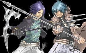 Picture anime, guys, mafia, Rokudou Mukuro, Katekyo Hitman REBORN!, Demon Spade