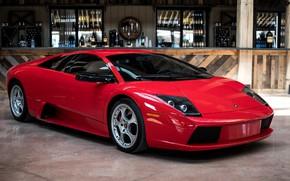 Picture Lamborghini, Red, Murcielago, Bar